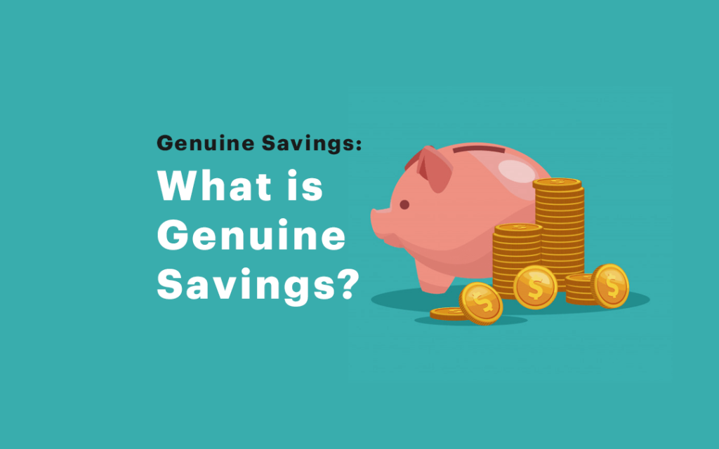 What counts as a genuine savings in a loan application?